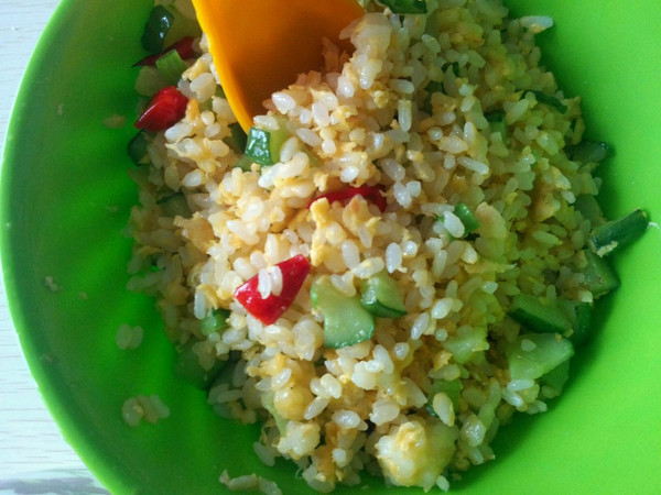 黄金蛋炒饭(全蛋预拌法)的做法
