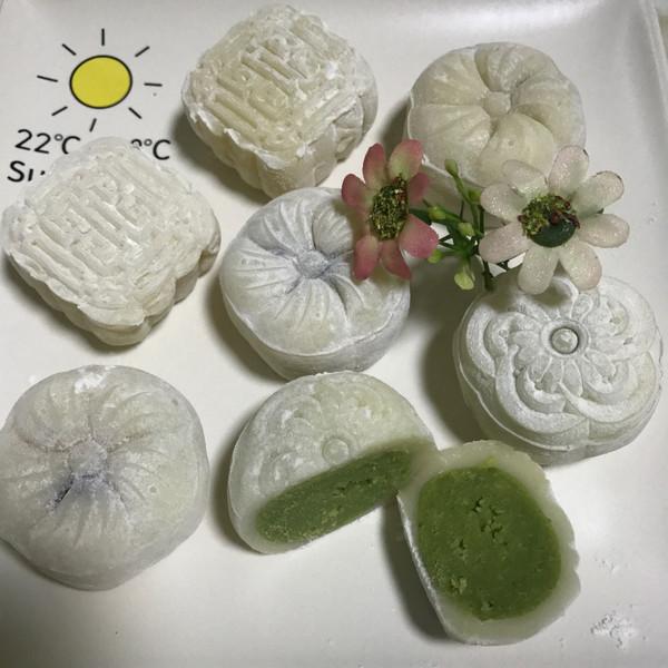 抹茶奶黄冰皮月饼的做法
