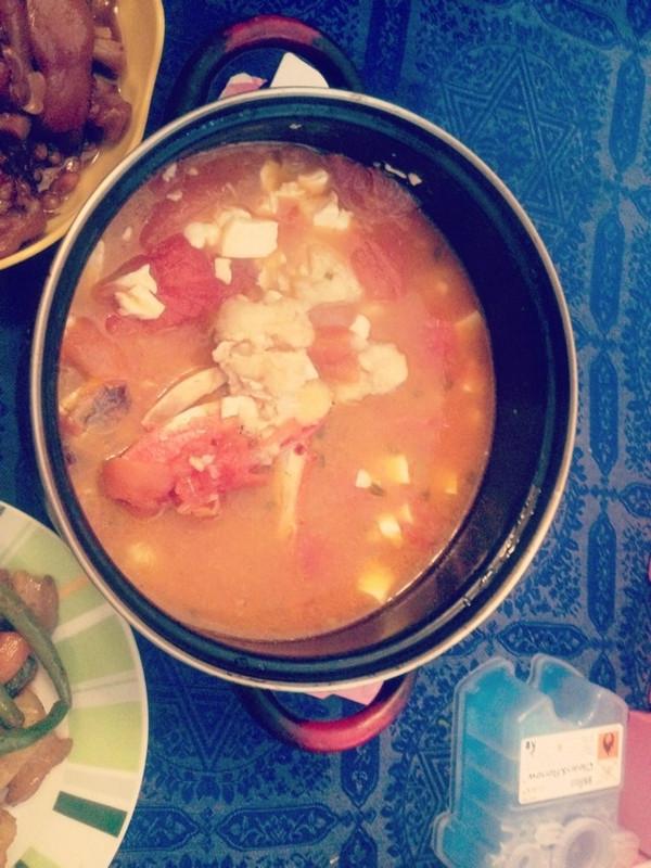 蕃茄梭子蟹豆腐煲的做法