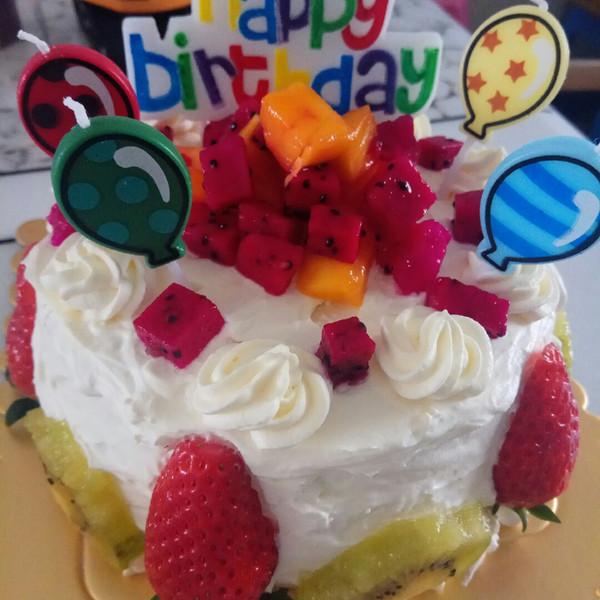 奶油蛋糕 生日蛋糕 儿子/第一次做就做儿子四岁生日蛋糕,完美