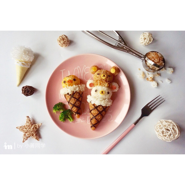 """轻松熊""""冰淇淋""""便当#厨此之外,锦享美味#的做法"""