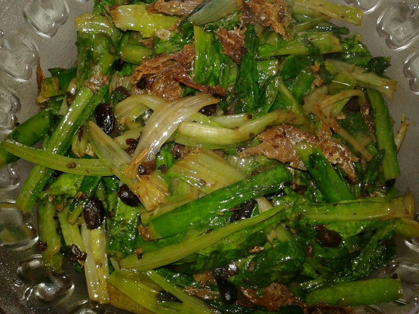 豆豉油麦菜的做法