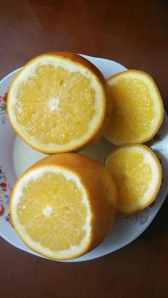 盐蒸橙子的做法