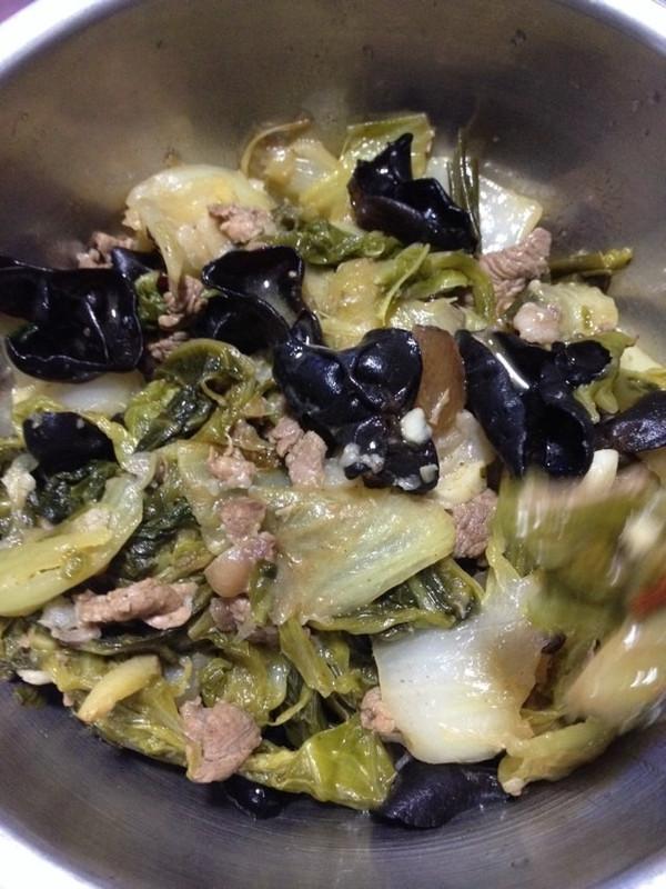醋熘木耳白菜的做法