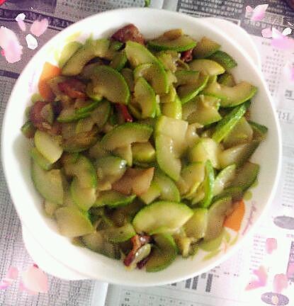 虾米皮炒角瓜的做法