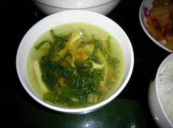 爽口海带丝汤的做法