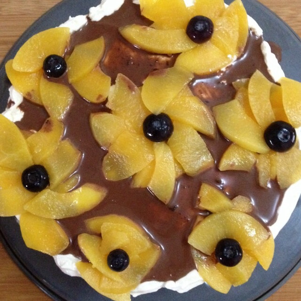 香缘的 乳脂动物奶油水果生日蛋糕 奶油裱花戚