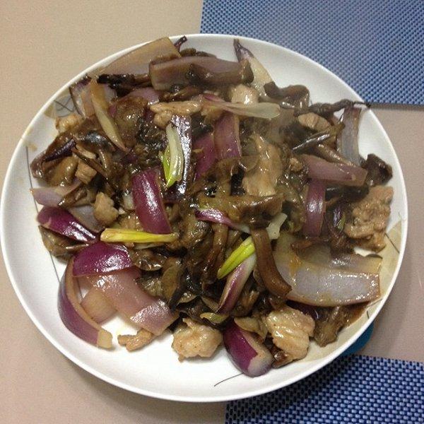 肉炒榛蘑的做法