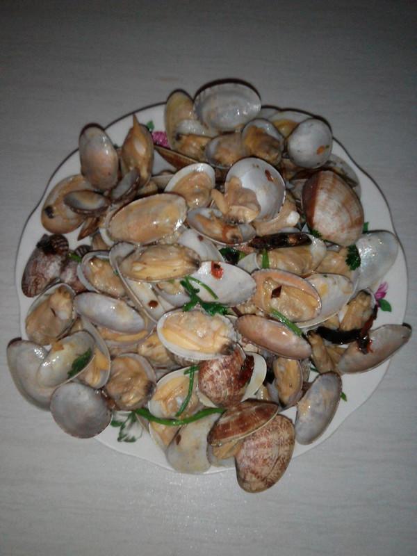 辣炒花蛤的做法