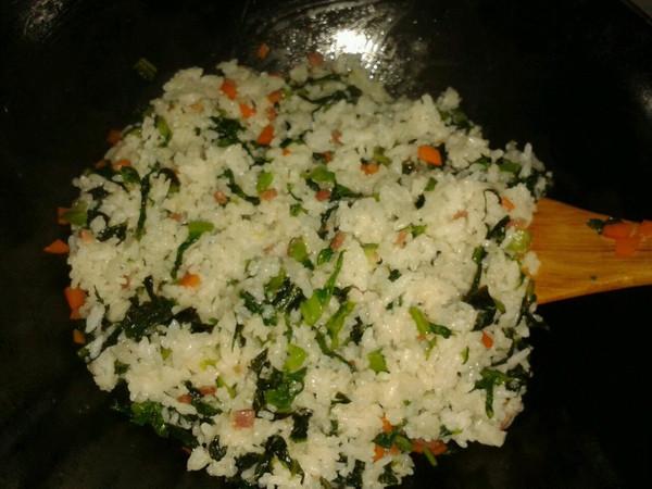 莴苣叶菜饭的做法