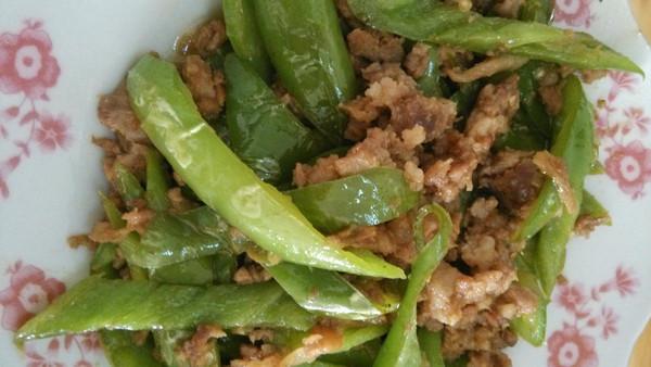 青椒肉末的做法