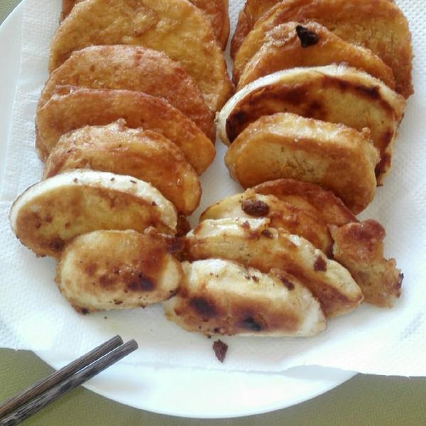 小月月学做菜的快手早餐炸馒头片做法的学习成