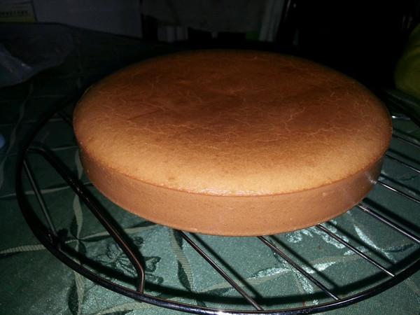 6寸小岛海绵蛋糕的做法
