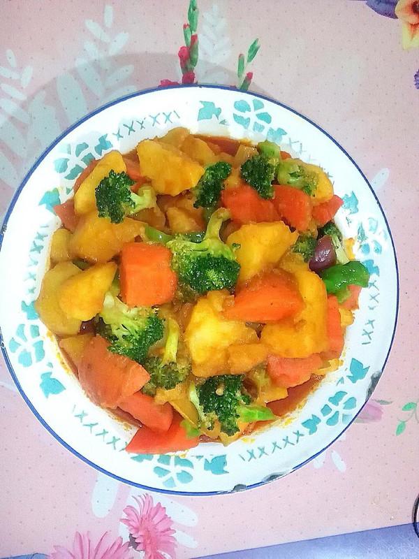 咖喱杂蔬[新手也能做好菜]的做法