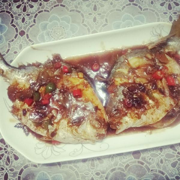 豆豆菜菜肉的红烧鲳鱼#嗨MilK出山乾坤#菜谱食谱做法大酒店图片