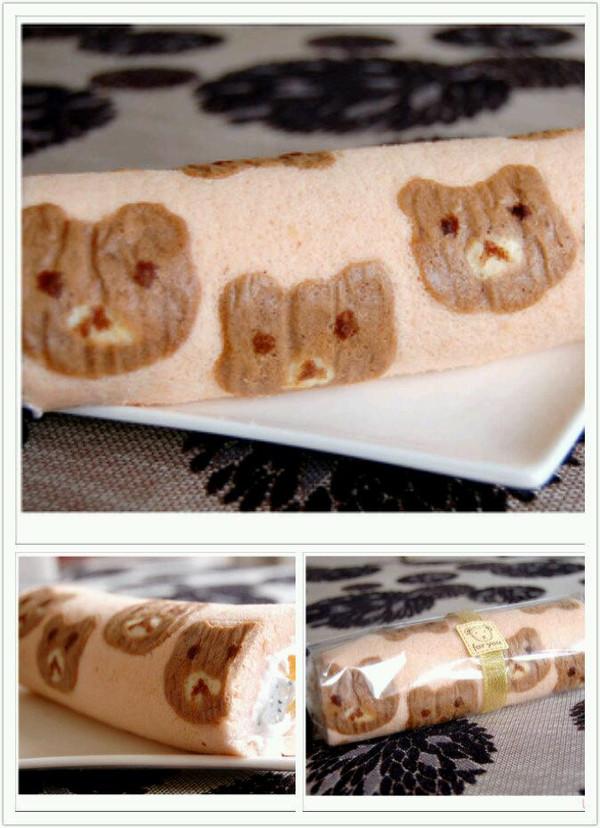 小熊猫蛋糕卷的做法