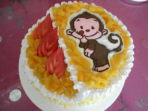 小猴子蛋糕图片
