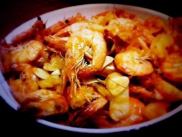 茄汁虾的做法