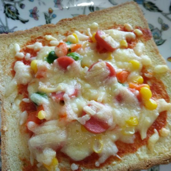 【吐司比萨】——隔夜吐司变华丽早餐的做法