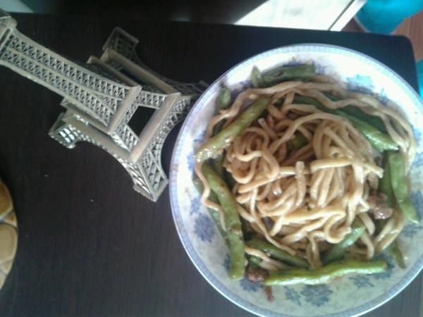扁豆焖面的做法