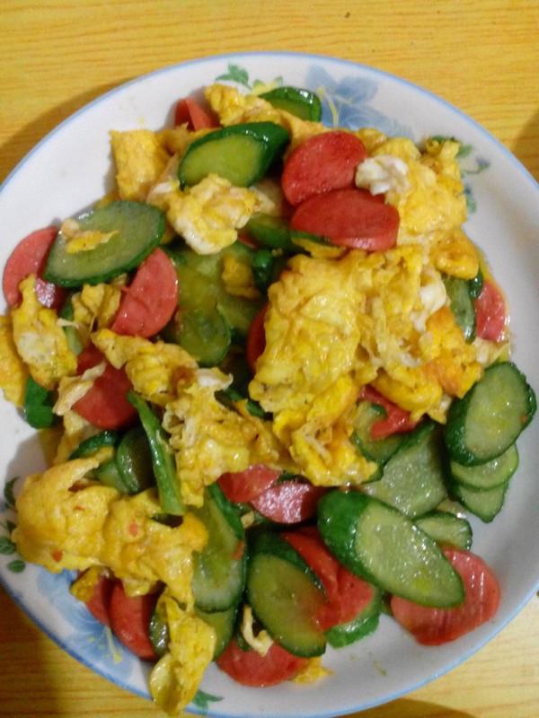 黄瓜片炒鸡蛋的做法