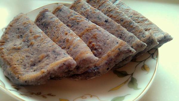 奶香黑米饼的做法