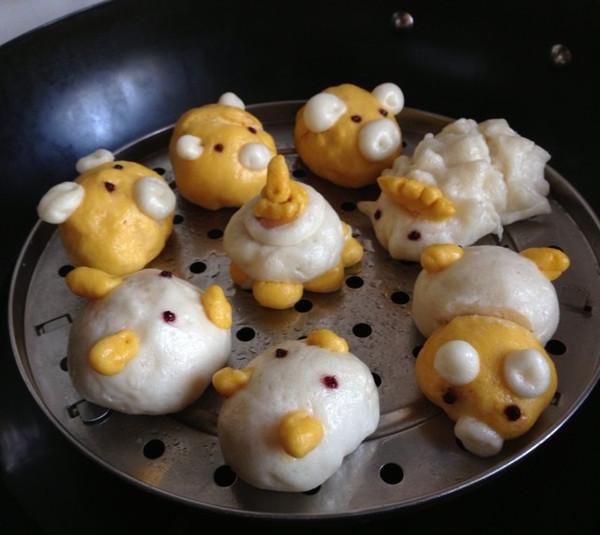 玉米面可爱小动物馒头的做法