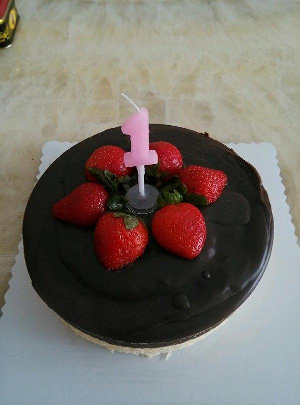 芝士蛋糕 原味 生日蛋糕/女儿的一岁生日蛋糕