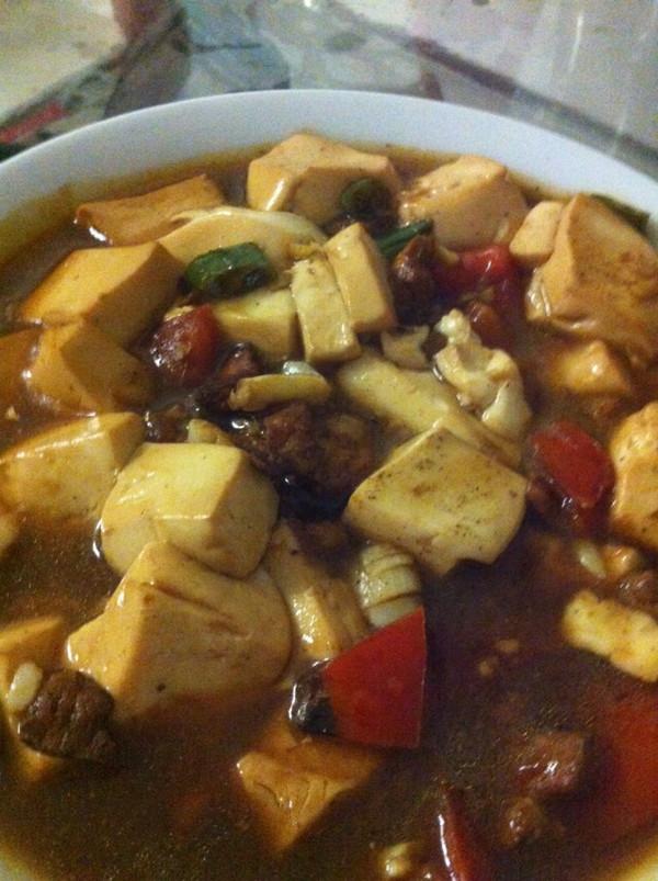 肉末烧豆腐的做法