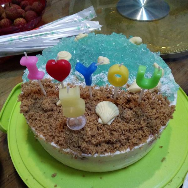 海洋之星慕斯蛋糕,送给外甥的礼物