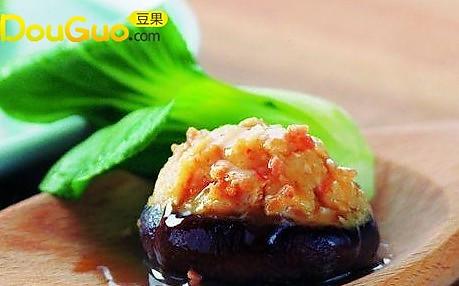 鲜虾百花酿冬菇的做法