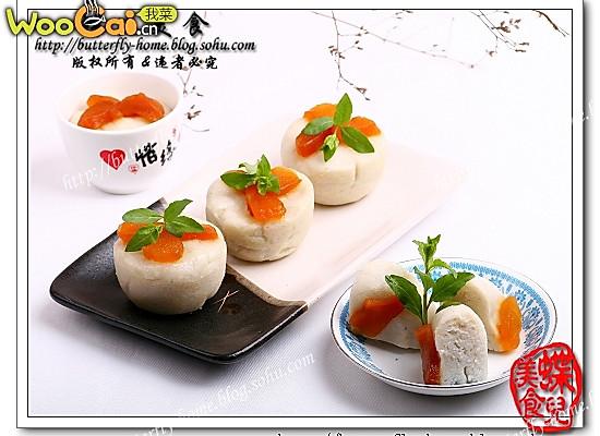 桃脯大米蒸糕  【蝶儿美食】的做法