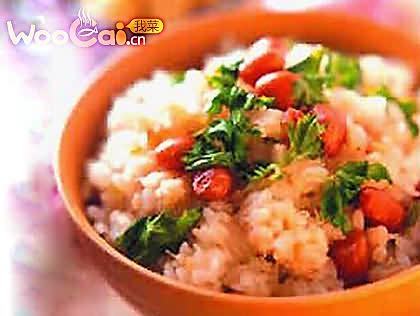 香菜蟹肉饭的做法