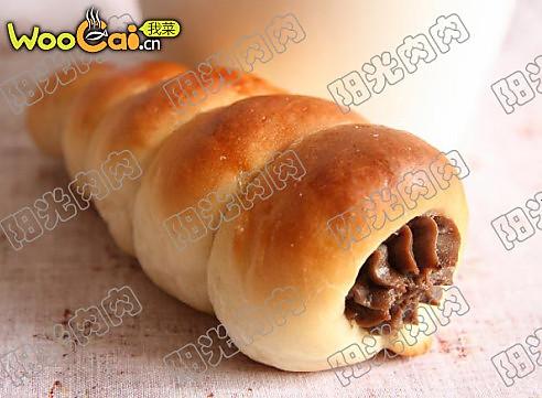 可可螺旋卷面包的做法