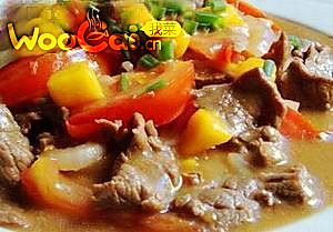 毛豆咖喱牛肉的做法