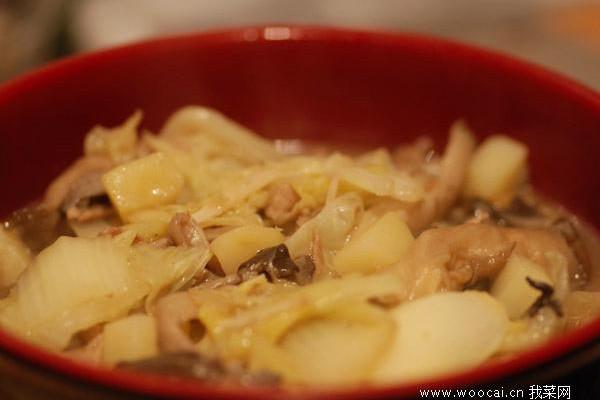 蘑菇白菜的做法