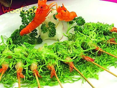 沙律棒棒虾的做法