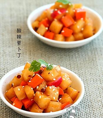 酸辣萝卜丁的做法