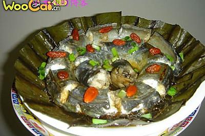 荷叶蒸鳗鱼
