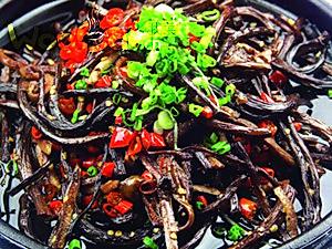 茶菇铁板鳝丝的做法
