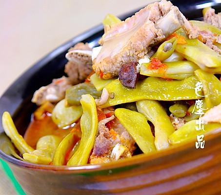 地豆炖排骨——自己种菜自己吃   的做法