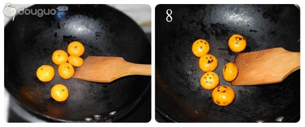 烤橘子的做法步骤 2. 用水将橘子冲洗干净. 4.